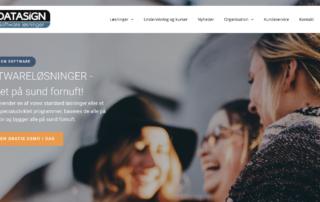 Datasigns nye hjemmeside